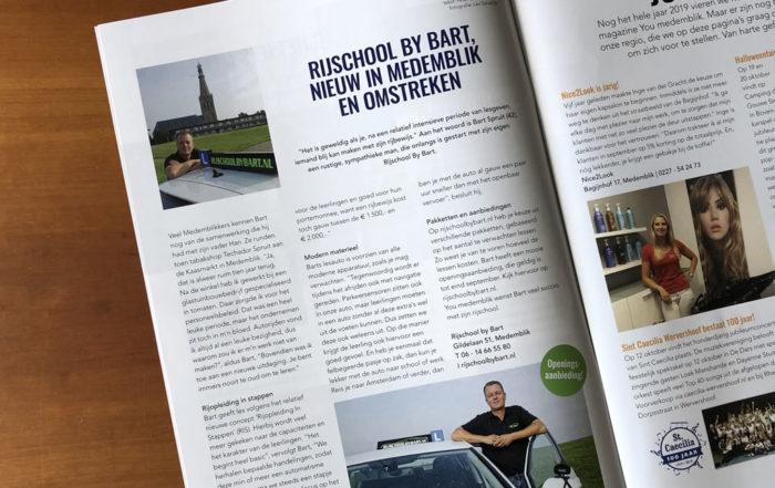 Rijschool by Bart in YouMedemblik magazine